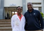 Anthony Charles, MD, MPH, with Vanessa Nsosa, Malawian Surgical Initiative Resident