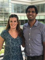 Kate Westmoreland, MD, with her mentor, Satish Gopal, MD, MPH, cancer program director for UNC Project-Malawi.