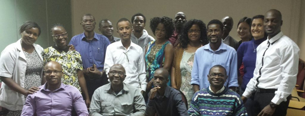 group shot of 20 or so Malawi researchers
