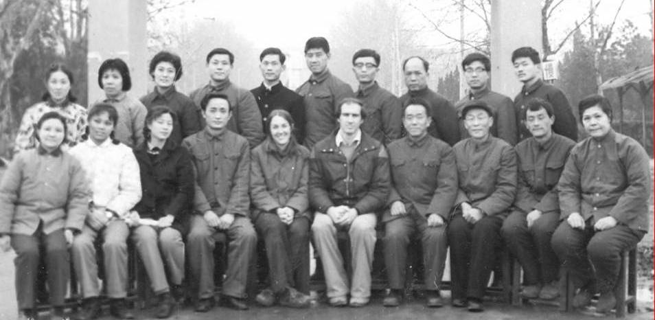 group photo of researchers in china