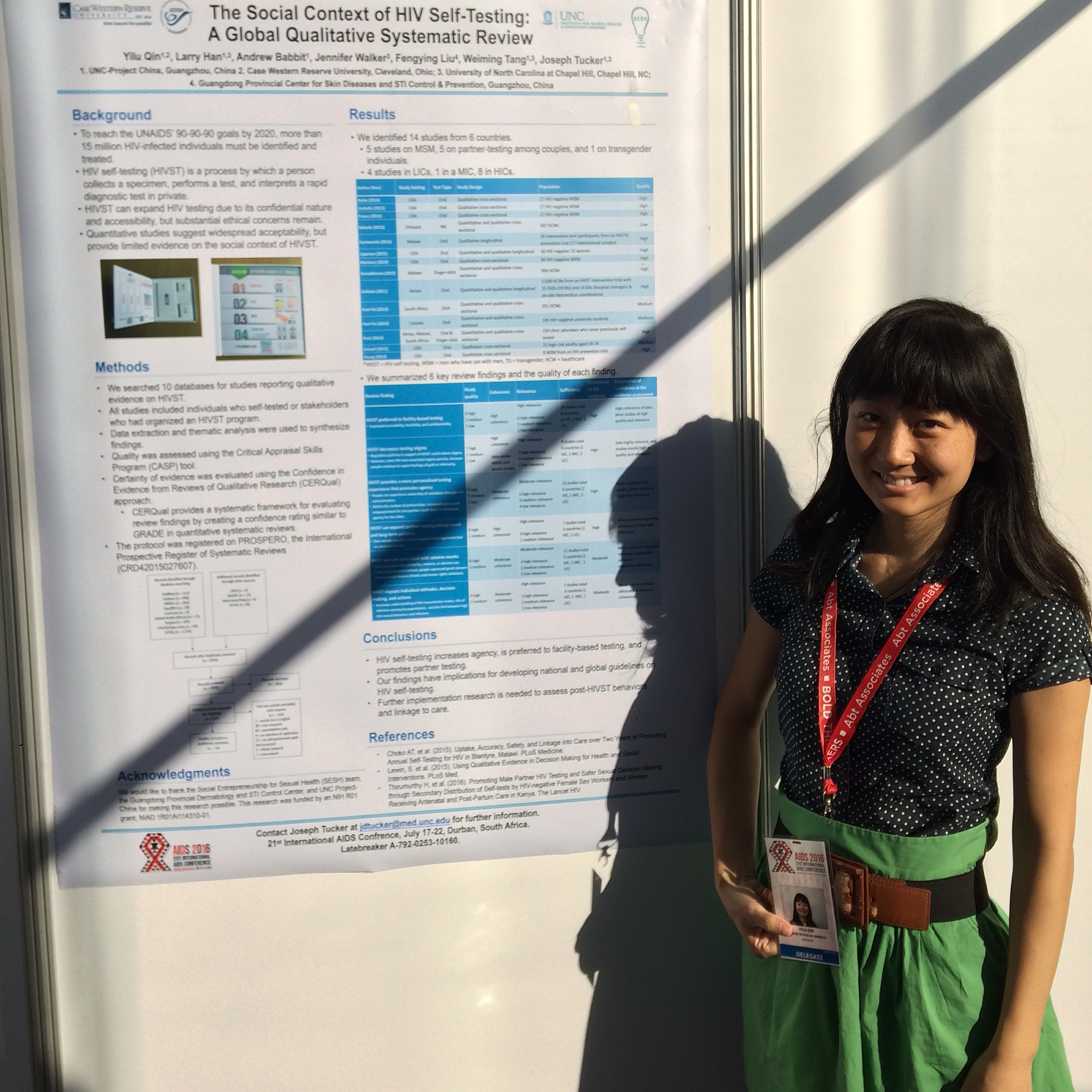 Trainee presenting research