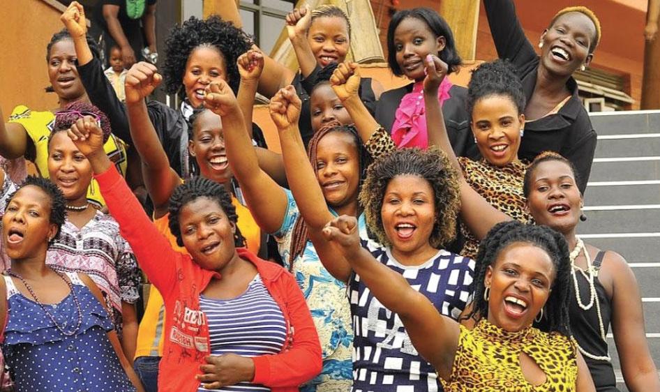 African women celebrating