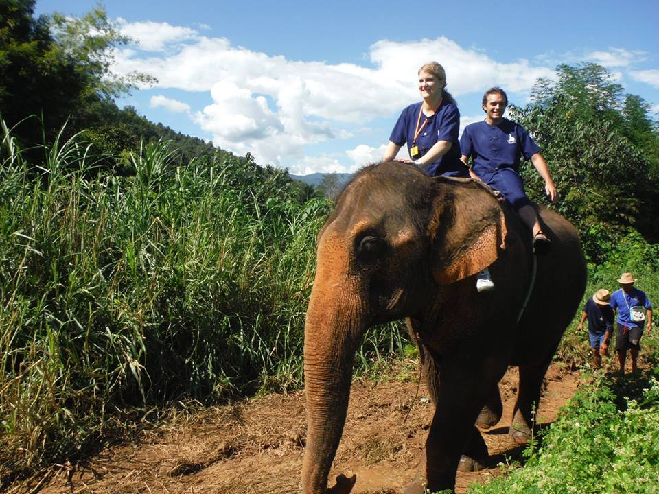 Trainees Zack and Alissa in Thailand