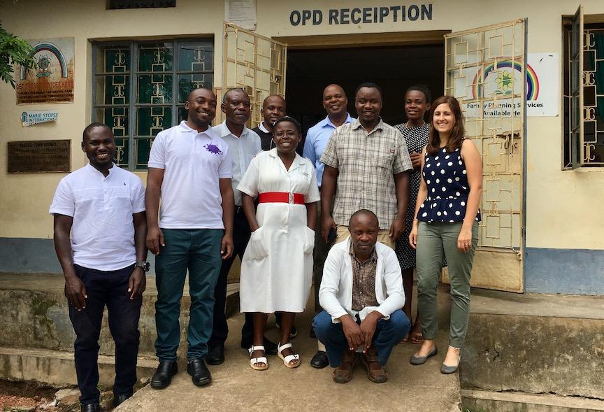 group shot in Uganda