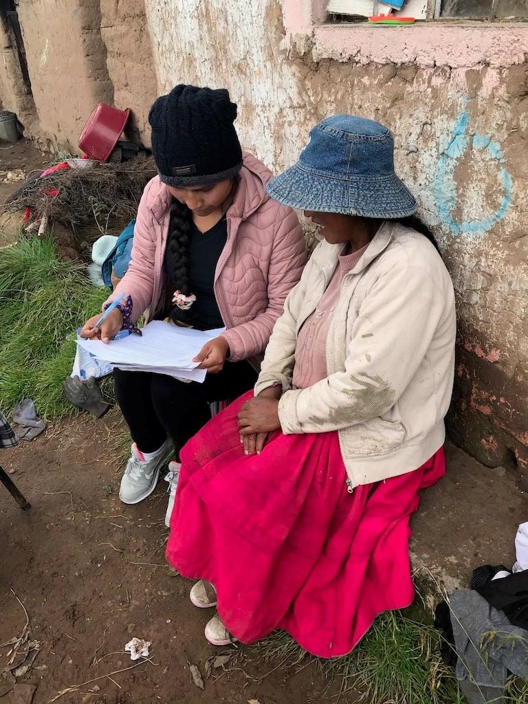 Doing research in Peru