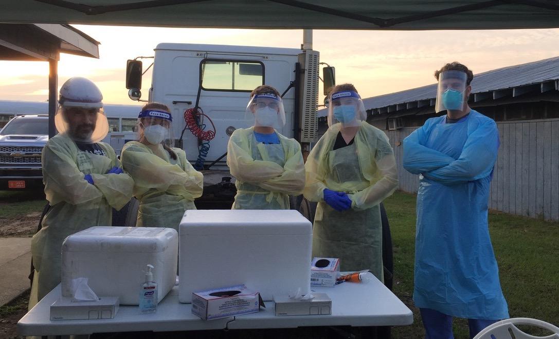 medical team in PPE