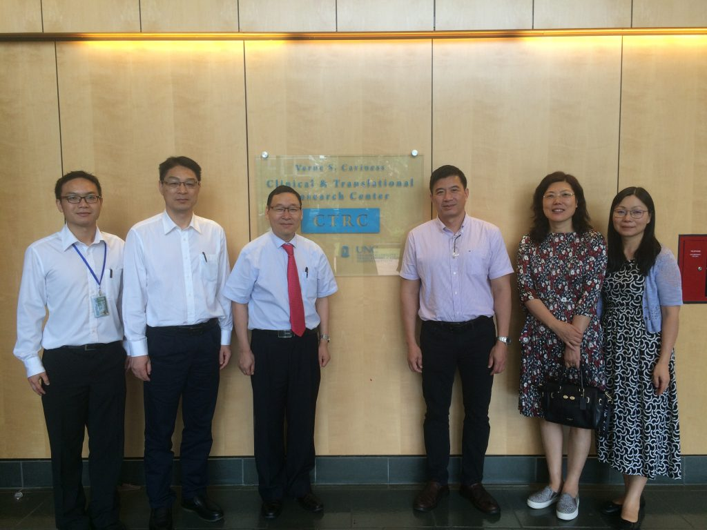 UNC Project China Trainees visit Chapel Hill's Clinical and Translational Research Center