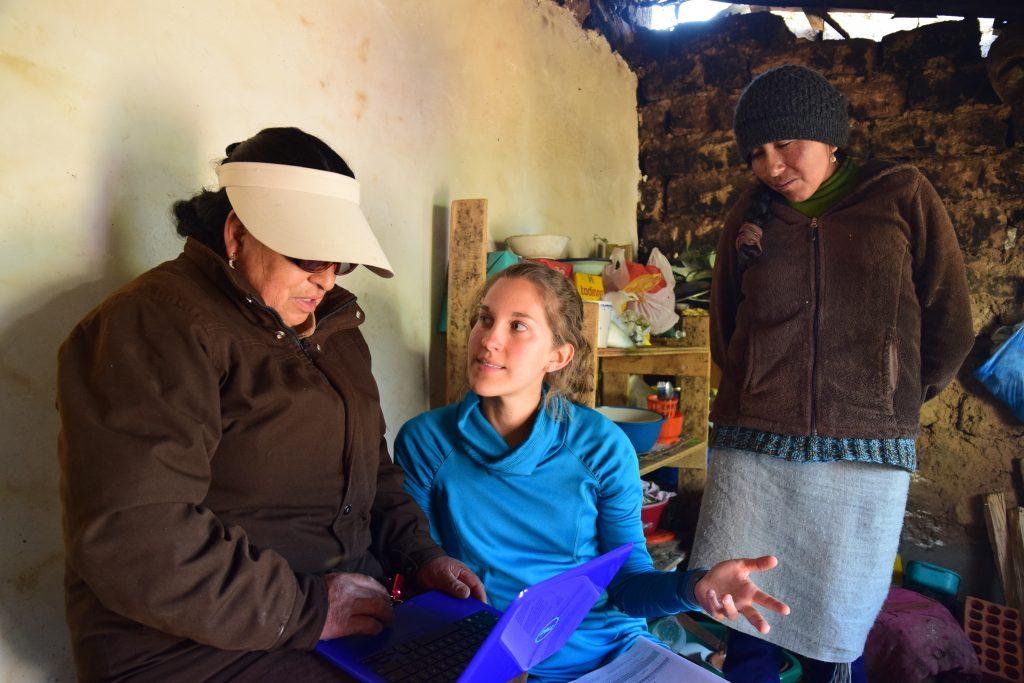 UJMT Trainee Kendra Williams working on research in Peru