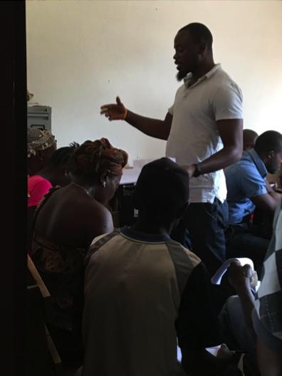 UJMT Trainee administers a survey